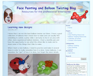 The Face Painting and Balloon Twisting Blog